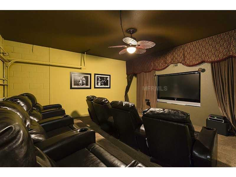 Home theater with 71-inch Samsung TV, Bose surround sound, Wii - Fabulous Villa On 5 Star Windsor Hills - Kissimmee - rentals
