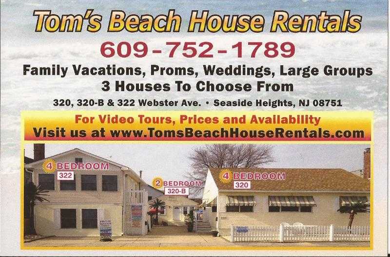 MANY HOUSES TO CHOOSE FROM! LARGE GROUPS WELCOME-FAMILY VACATIONS - 2017 PROMS- LARGE GROUPS WELCOME-4 HOUSES - Seaside Heights - rentals