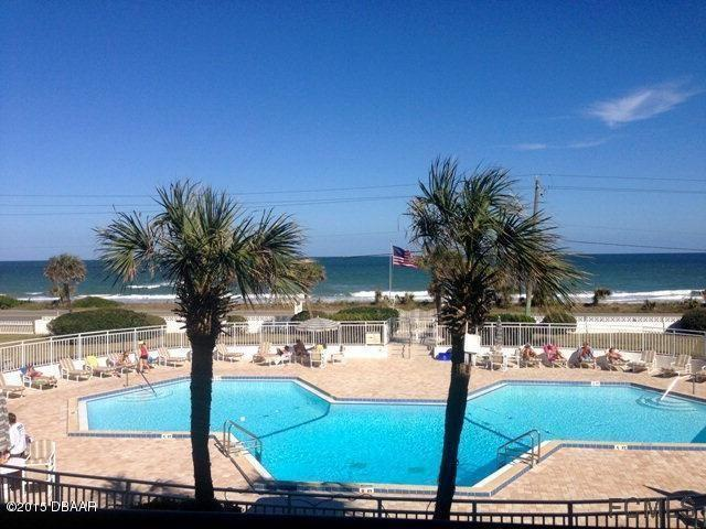 Oceanfront view from your own private balcony.  Steps to the pool and ocean. - OCEANFRONT WATERVIEW VACATION CONDO FLAGLER BEACH - Flagler Beach - rentals
