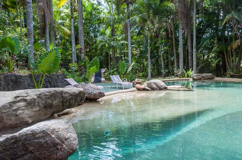 Kooee Hut Tropical Lagoon Pool - Kooee Hut Earlville  Hillside 'TreeHouse' , pool - Cairns - rentals