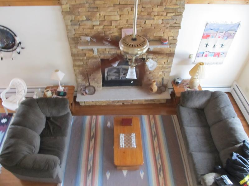Living room from Loft with sofa Bed - Fall Ia around the corner, come see the colors ! - Albrightsville - rentals