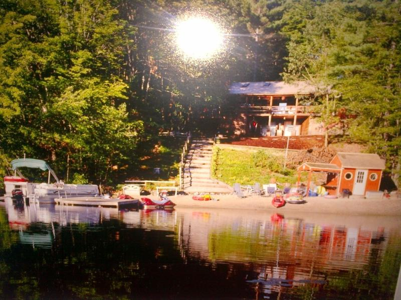 Spectacular Waterfront Log Cabin W/ Sandy Beach - Image 1 - East Wakefield - rentals