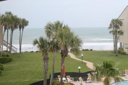 View from Balcony - Summerhouse 426, Ocean View Condo, 4 Heated Pools - Crescent Beach - rentals