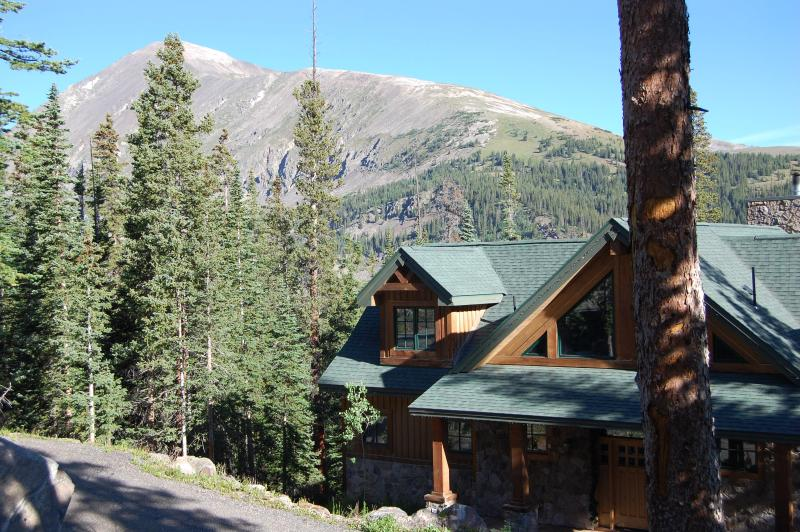 view of front of house with Quandary Mountain in the background. - Secluded Mountain Retreat, Close to the Slopes - Breckenridge - rentals