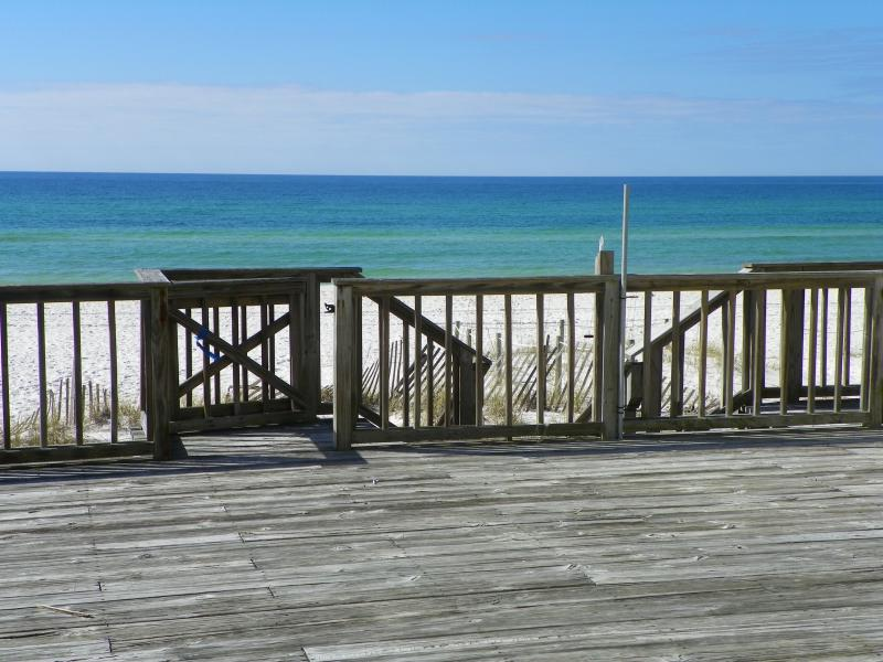 ocean  view from deck - Beautiful gulf front 3 bedroom, 3 bath townhome - Panama City Beach - rentals