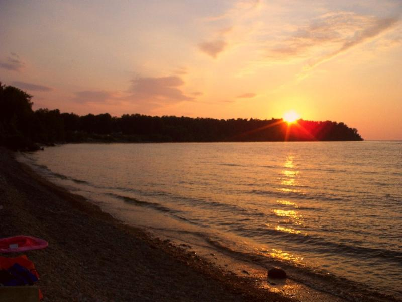We have Beautiful Sunsets that can be seen from the deck, beach or fire pit area - Lakefront Beauty on Private Cove-2 Cottages - Finger Lakes - rentals