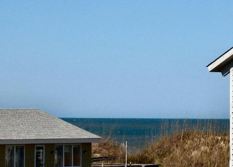 View from the upper deck.  Great beach access. - Ocean side Townhouse in South Nags Head, N.C. - Nags Head - rentals