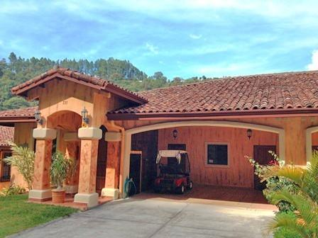 Villa Front Entrance and Garage. - Luxury Villa inside Idyllic Valle Escondido - Boquete - rentals
