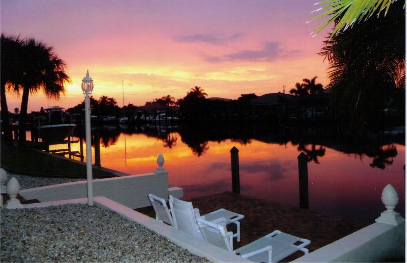 Sunrise at the Dock of Villa Catalina Isles - Location, Location, Location! Villa Catalina Isles - Cape Coral - rentals