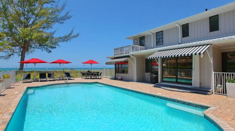 Beachfront Villa w/ Private Pool & Stunning Views! - Image 1 - Longboat Key - rentals