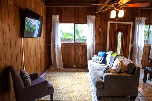 Living Room - Sunset Surf Bungalow - Last Minute Special - Haleiwa - rentals