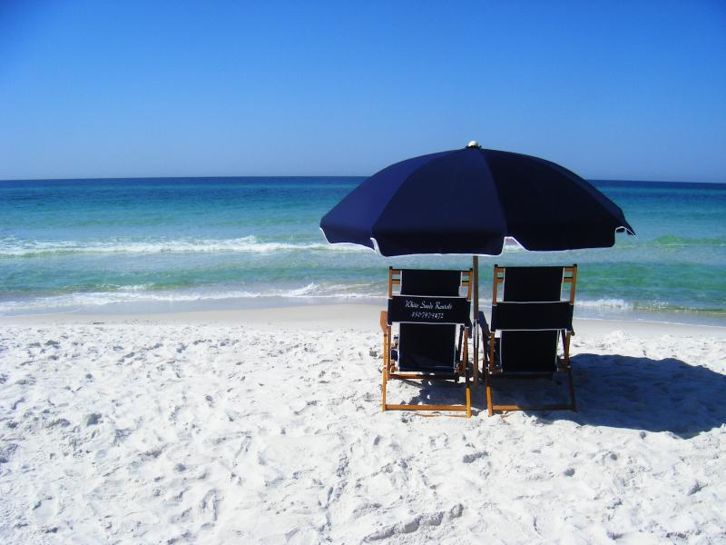 This could be you relaxing on the beautiful sands of the Gulf of Mexico. - Vision of Paradise - Panama City Beach - rentals