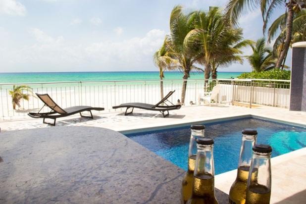 Beautiful 4 Beds Ocean Front Private Home - Image 1 - Playa del Carmen - rentals