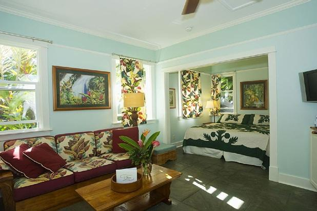 Cottage living area - Iao Valley Inn; Private Cottage/Gazebo on 37 Acres - Wailuku - rentals