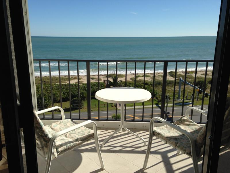 View from balcony - Escape to oceanfront Florida condo - Fort Pierce - rentals