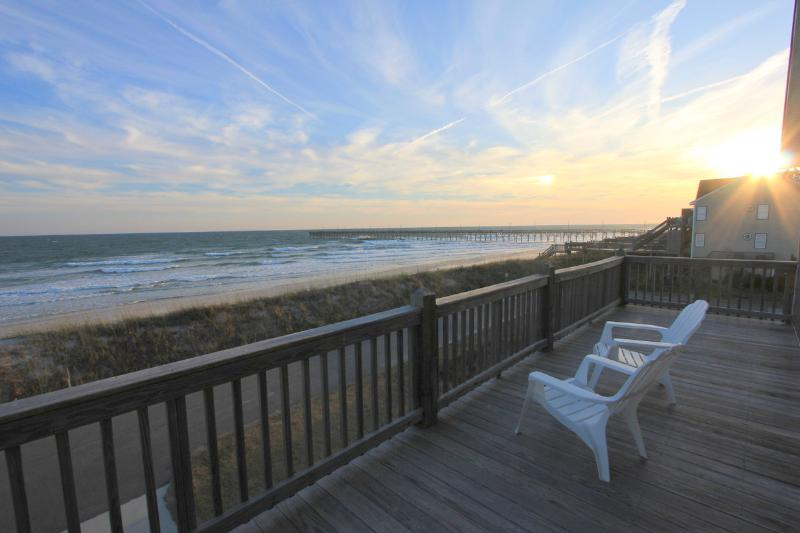 Ocean Views from the Front Deck - Amazing Ocean Views, 3 Levels of Living Space! - North Topsail Beach - rentals