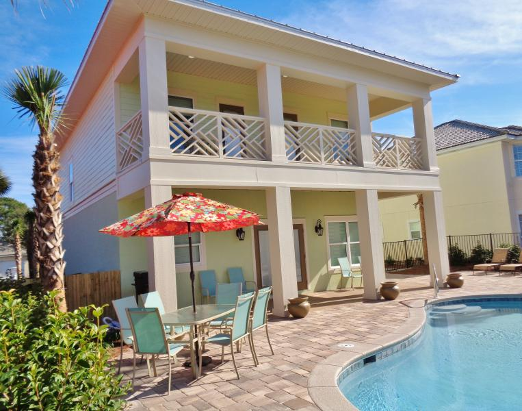 Back of home. - Brand New! Upscale,Private pool, Free golf cart! - Destin - rentals