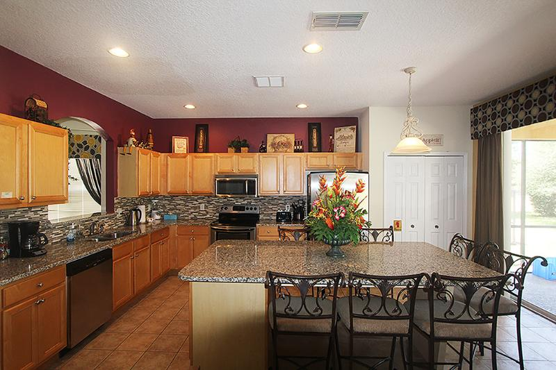 Kitchen - Luxury Disney 7 Bedroom Villa, 4 King Suites! - Four Corners - rentals