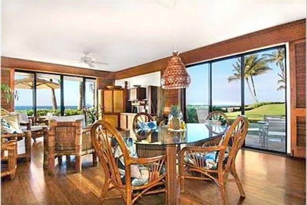 Dining room / living room / two lanais - Poipu Kapili- End Unit-Oceanfront - Koloa - rentals