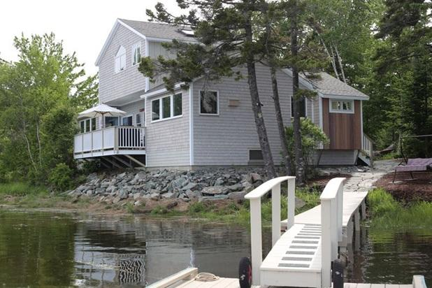 Exterior from the dock - MDI Ocean Front Delight close to all Acadia offers - Tremont - rentals