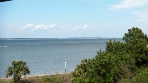 This photo was taken from the deck of Whispering Palms. - Whispering Palms - KING bed - Tybee Island - rentals