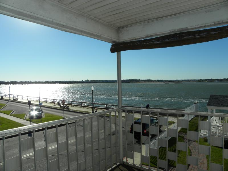 Yes this is the view! Can you see yourself relaxing on the front porch? - Beautiful Sunset Bay Views on 4th Street Downtown - Ocean City - rentals