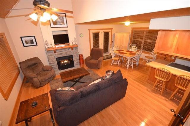 Open living area with huge fireplace! - Stonebridge 1 Bedroom Lodge - Close to SDC! - Branson West - rentals