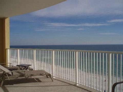 Balcony overlooking the Ocean - Luxurious 2 bedroom/2 bathroom Ocean Front condo - Panama City Beach - rentals