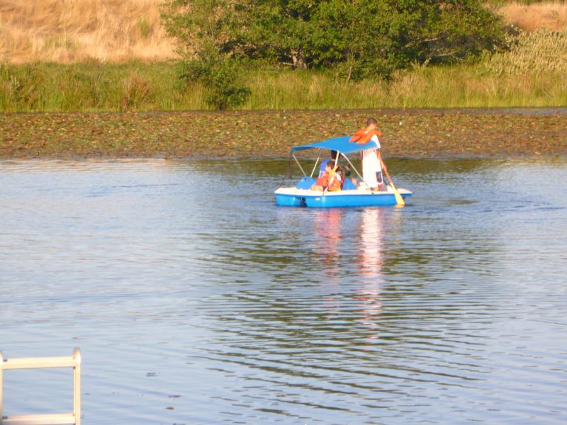 Lakefront water activities, 5 passenger paddle boat, canoe, kayak, fishing boat - Lakefront Family Getaway, Fishing, Water Sports - Gearhart - rentals