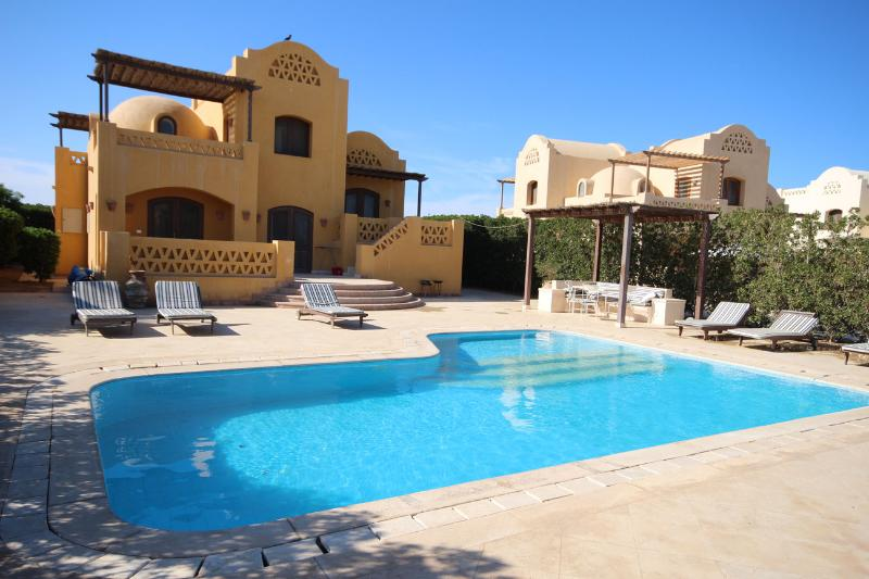 Heated Pool Area - Beautiful Gouna Villa on lagoon with heated pool - El Gouna - rentals