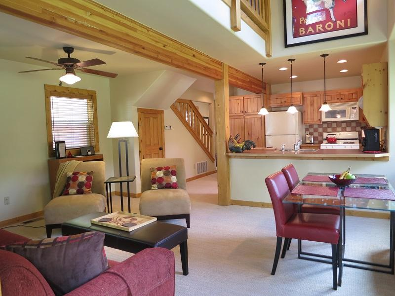 Downstairs living and dining area - RED FOX LODGE Near Marina and Downtown - McCall - rentals