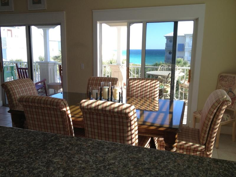 View from kitchen - Gulf Side with Fantastic Ocean View Seagrove Beach - Seagrove Beach - rentals