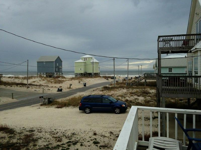 View from Deck (Not Zoomed) - Peach on the Beach - 3 BR / 2 BA - Fort Morgan - rentals