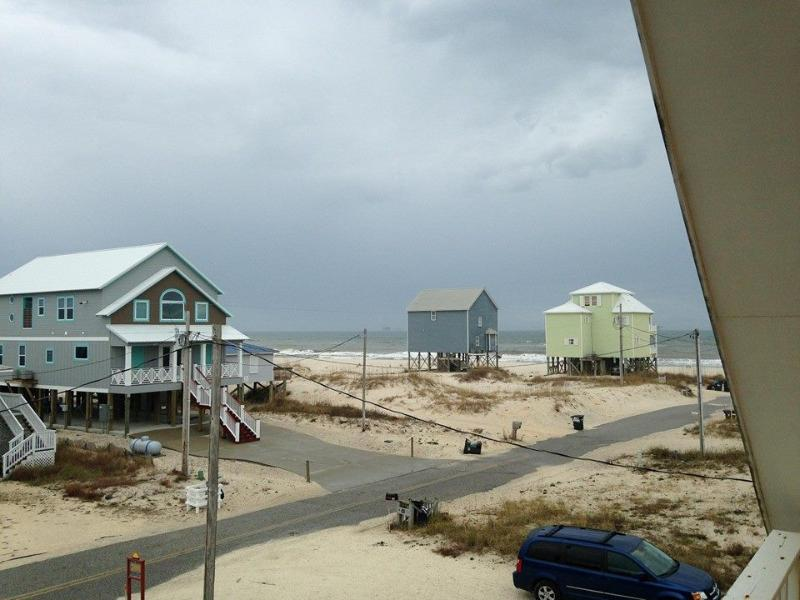 View From Master Bedroom Deck (Not Zoomed) - Peach on the Beach - 3 BR / 2 BA - Fort Morgan - rentals