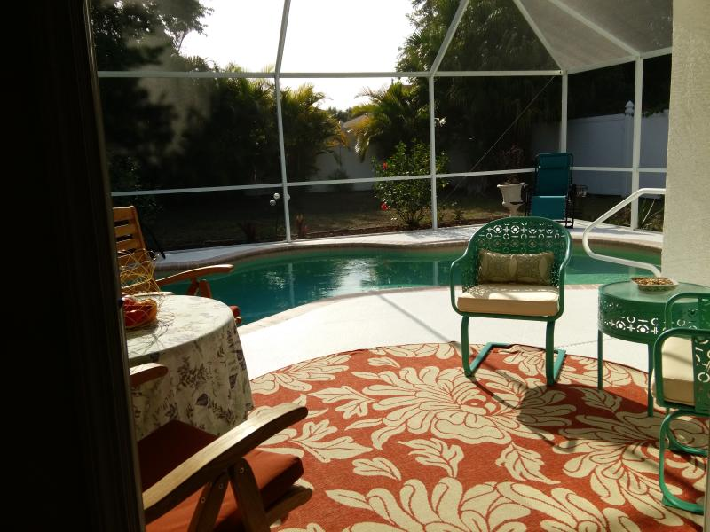 Lanai by the pool - HEATED Salt Water Pool 3 brm house near golf beach - Rotonda West - rentals