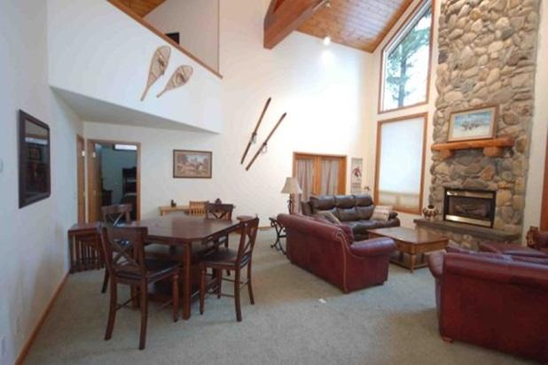 Living area with game table &big screen television - The Majestic! Spring Mtn. Ranch, Hot Tub, Golf - McCall - rentals