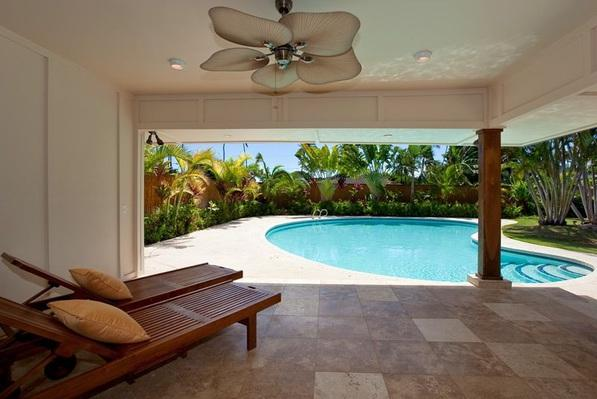 Spacious patio - Kahala Tropical Oasis - w/ pool, AC, BBQ - Honolulu - rentals