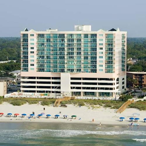 Looking at the photo, we are the top right corner  unit - Beautiful, Private, Oceanfront 4bd/3BA Condo - North Myrtle Beach - rentals