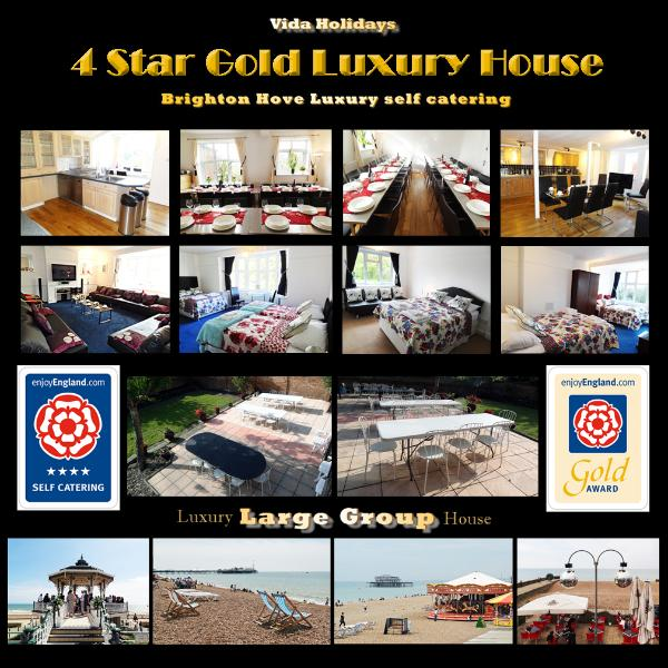 4 Star Luxury House Holiday Rental Brighton Hove Central location near the Beach - 4 Star Gold 9 Bed BIG Holiday Home BRIGHTON UK - Hove - rentals