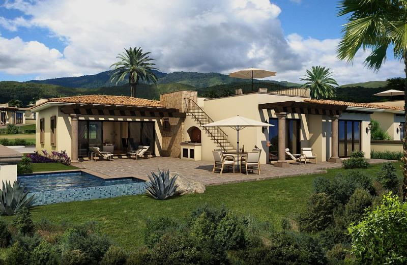 Casita rendering; ours includes rooftop bar & lounge area, fire pit & fireplace - Tiger Woods Course & Dunes (#38) at Diamante - Cabo San Lucas - rentals