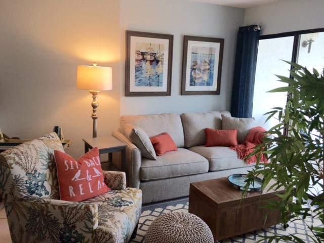 Living room to relax or enjoy with guests. - PARADISE-Anglers Cove Waterfront Designer Condo - Marco Island - rentals