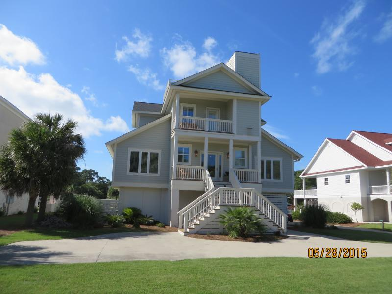 Front view of home ocean view - Fripp Island 413 Tarpon Blvd 360 degree Rooftop view - Fripp Island - rentals