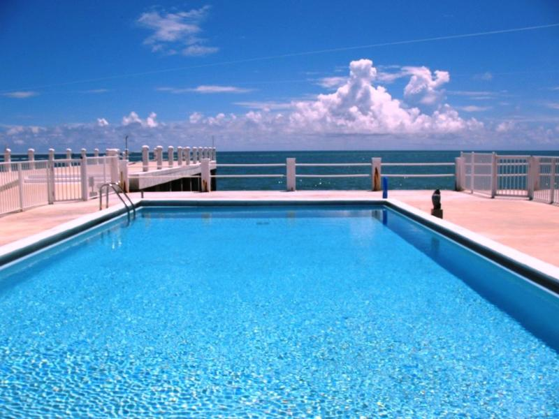 "Beautiful Pool Overlooking the Atlantic Ocean with a Sandy Beach - M139 ~ ""Something Sweet"" - Key Colony Beach - rentals"