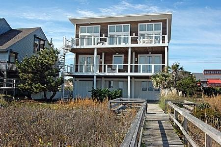 HAWKS IN THE HEEL - Hawks in the Heel- 5 Bedroom Oceanfront W/Elevator - Kure Beach - rentals