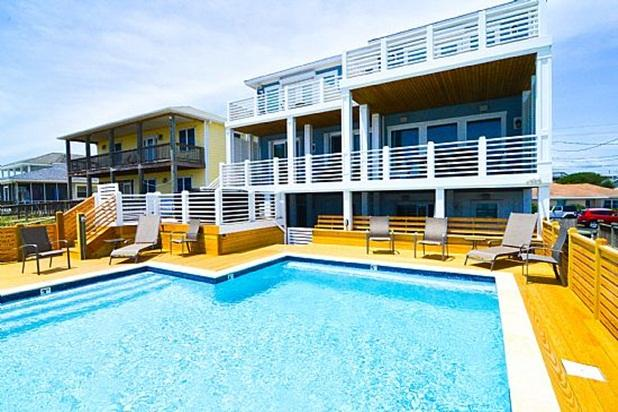YOUR VACATION OASIS - KURE'S PEARL- OCEANFRONT, 6 BR, POOL, HOT TUB, ELEVATOR - Kure Beach - rentals