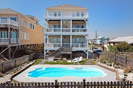 TRANQUILITY DELUXE - Tranquility Deluxe- 9 Bedroom Oceanfront, Pool & Elevator - Carolina Beach - rentals