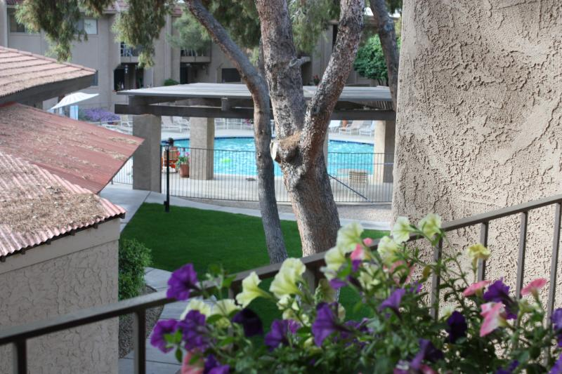 Steps to one of the complex 2 heated pools.  Also hot tub in the complex - DECEMBER REDUCED - Downtown/Old Town Location - Scottsdale - rentals