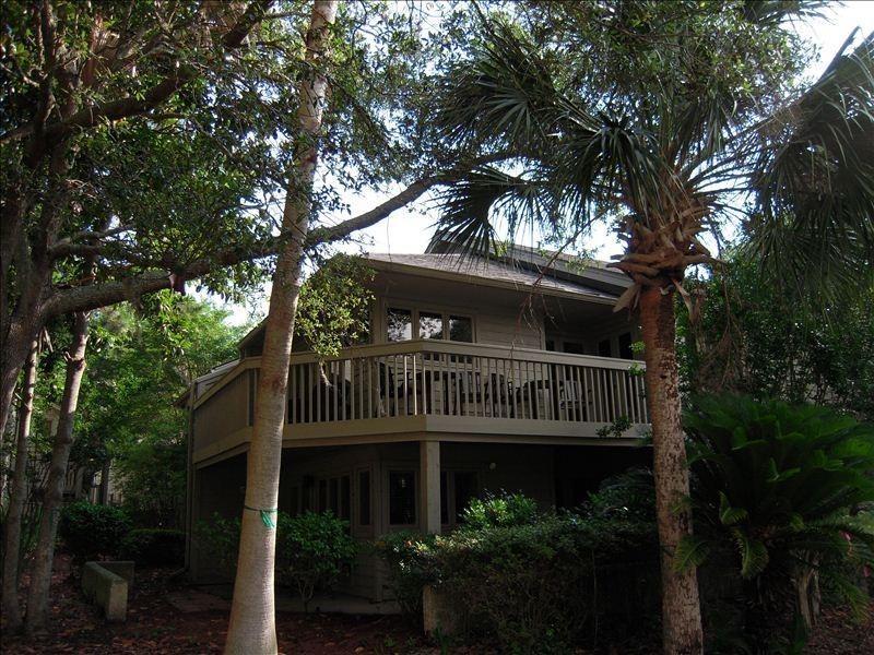 The private back, wrap-around deack of your 1400 sq. ft. 2 BR, 2 bath paradise. - EXCEPTIONAL Villa - Palmetto Dunes! Private/Views! - Hilton Head - rentals