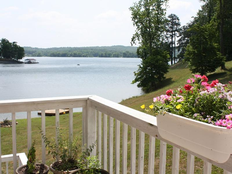 Beautiful View of the lake from the main level deck. - Lake Home on Chickamauga, Private Dock - Sale Creek - rentals