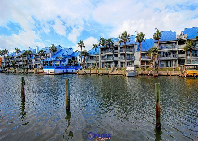 Water view from patio - Come Enjoy this 3 bedroom Waterfront condo with a great Sunset View! - Corpus Christi - rentals